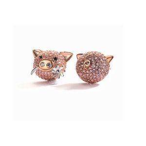 DIAMOND PIG MISMATCHED EARRINGS